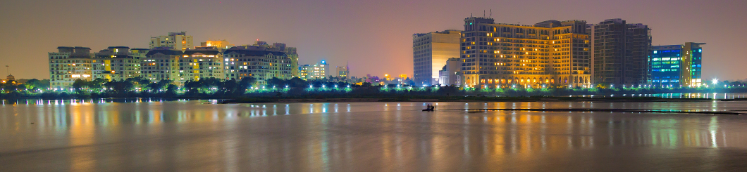 Chennai skyline at night